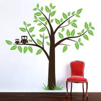 tree with owls wall sticker by parkins interiors ...