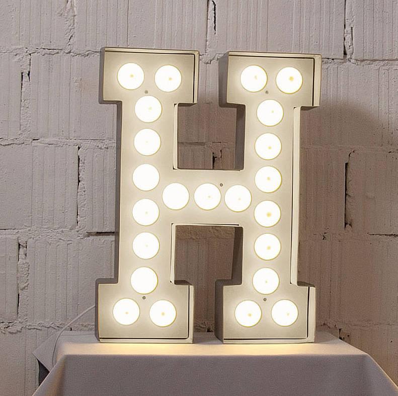 Metal Letters Lights