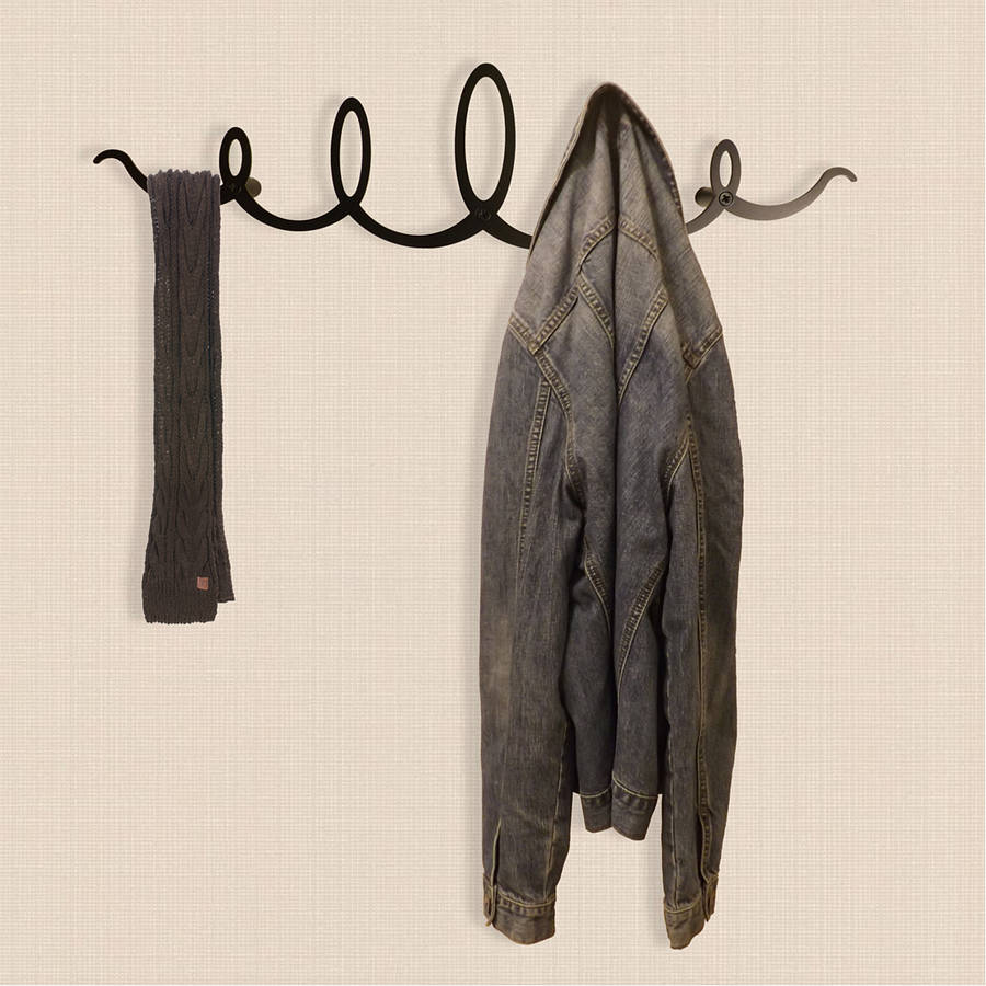 squiggle coat rack by the metal house by the metal house