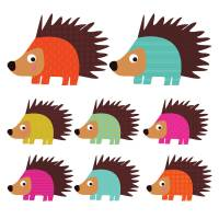 patterned hedgehog wall stickers by spin collective ...
