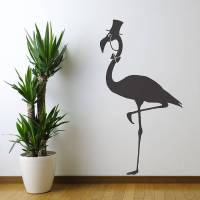flamingo vinyl wall sticker by oakdene designs ...