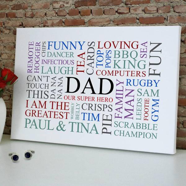 Dad' Favourites Word Art Print Cherry Pete