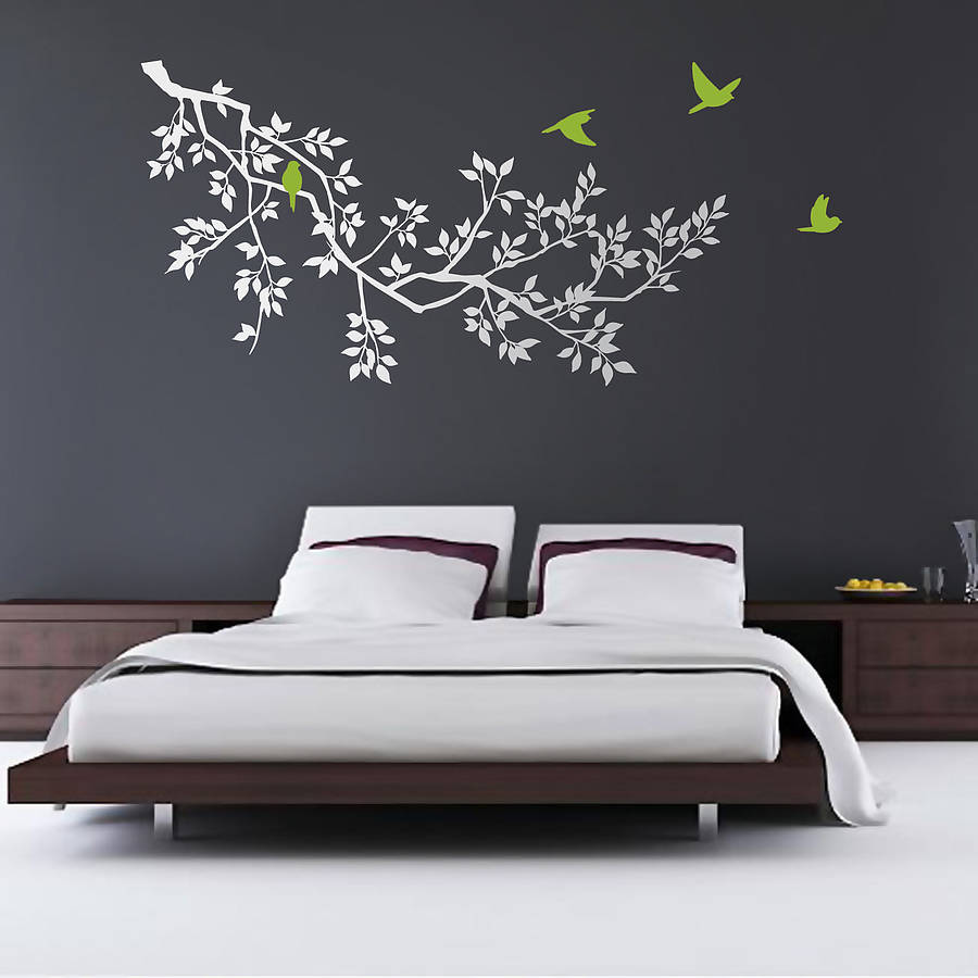 wall stickers spring branches white by zazous  notonthehighstreetcom