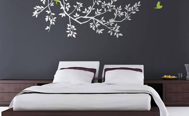 Wall Stickers Spring Branches White By Zazous