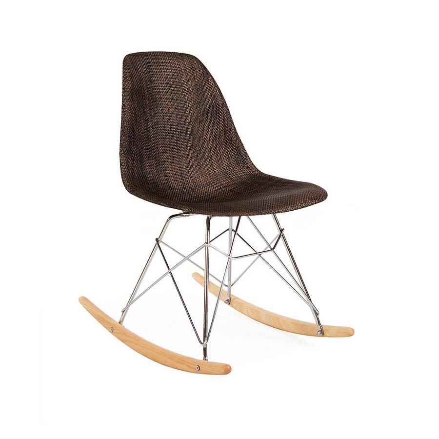 modern rocking chair natural weave retro modern by ciel