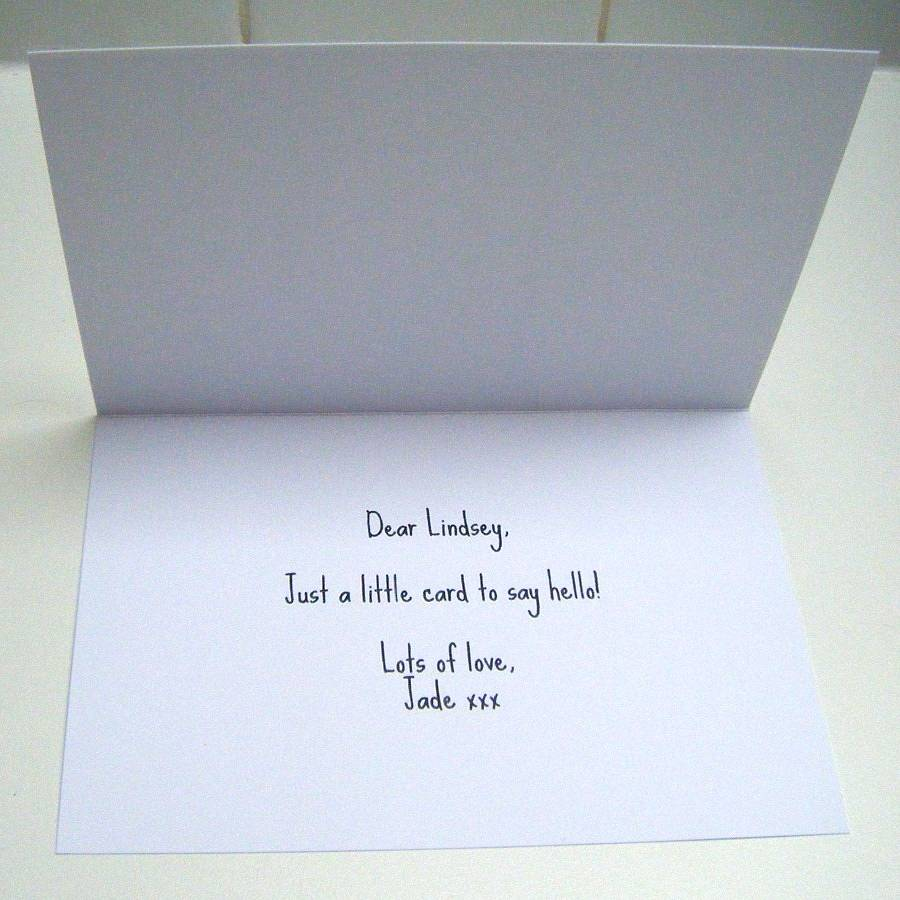 'thanks A Bunch' Typography Thank You Card By Lovely