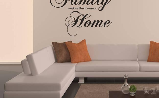 Family Home Wall Sticker By Oakdene Designs