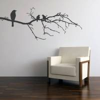 black birds on branch wall sticker by parkins interiors