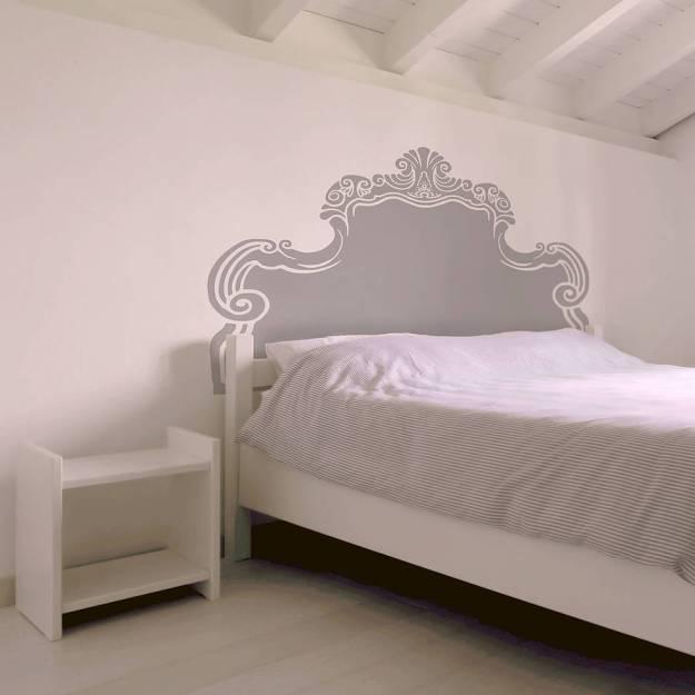 vintage bed headboard wall stickeroakdene designs