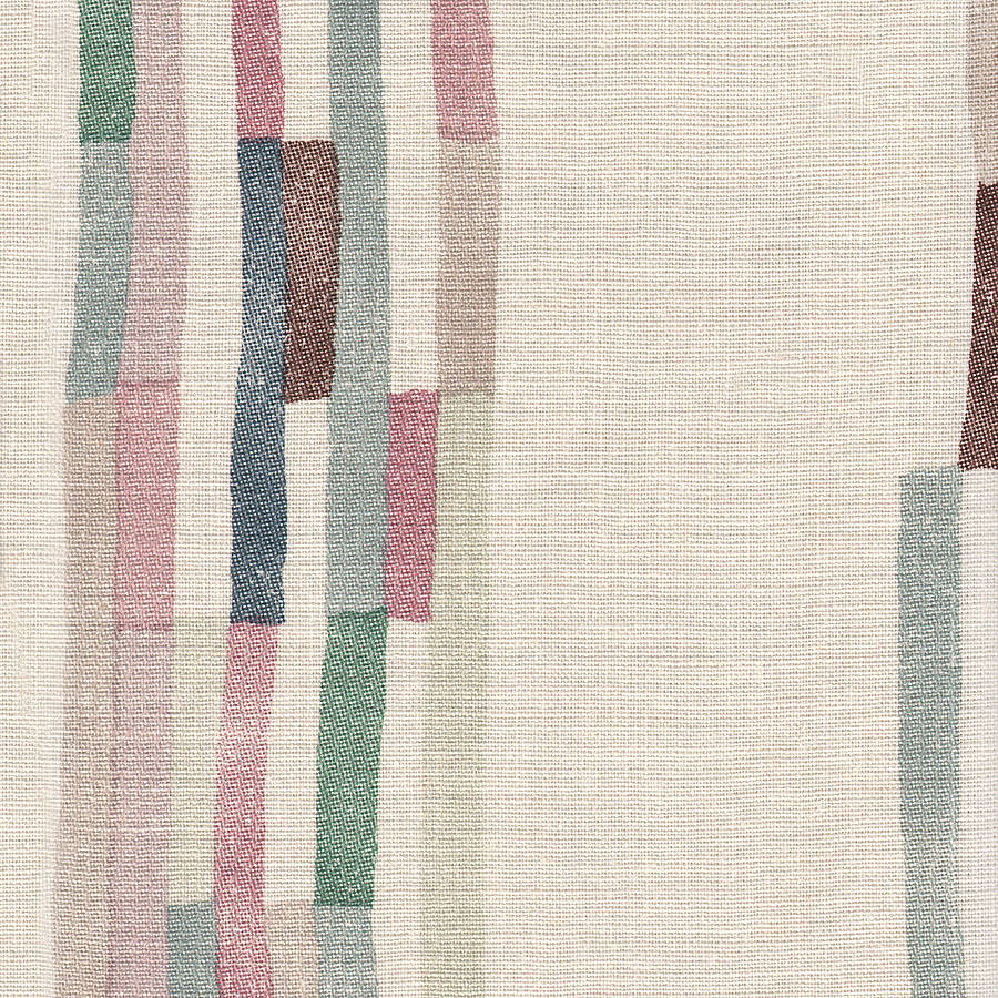 striped linen fabric shangri la by daniel croyle  notonthehighstreetcom