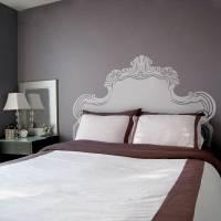 vintage bed headboard wall sticker by oakdene designs ...
