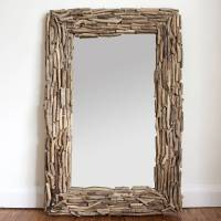 large rectangular driftwood mirror by decorative mirrors ...