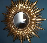 antique gold sunburst mirror by the forest & co ...
