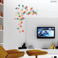 geometric triangles vinyl wall sticker set by oakdene ...