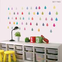 'raindrop' vinyl wall stickers by oakdene designs ...
