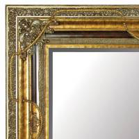 large gold mirror with black details by out there ...