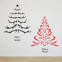 antler christmas tree wall sticker by oakdene designs ...