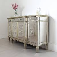 long antique mirrored sideboard by out there interiors ...