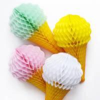 ice cream cone tissue paper decoration by peach blossom ...