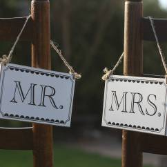 Hanging Chair Notonthehighstreet Bright Starts High Cover Mr And Mrs Wooden Signs By The Wedding Of My Dreams   Notonthehighstreet.com