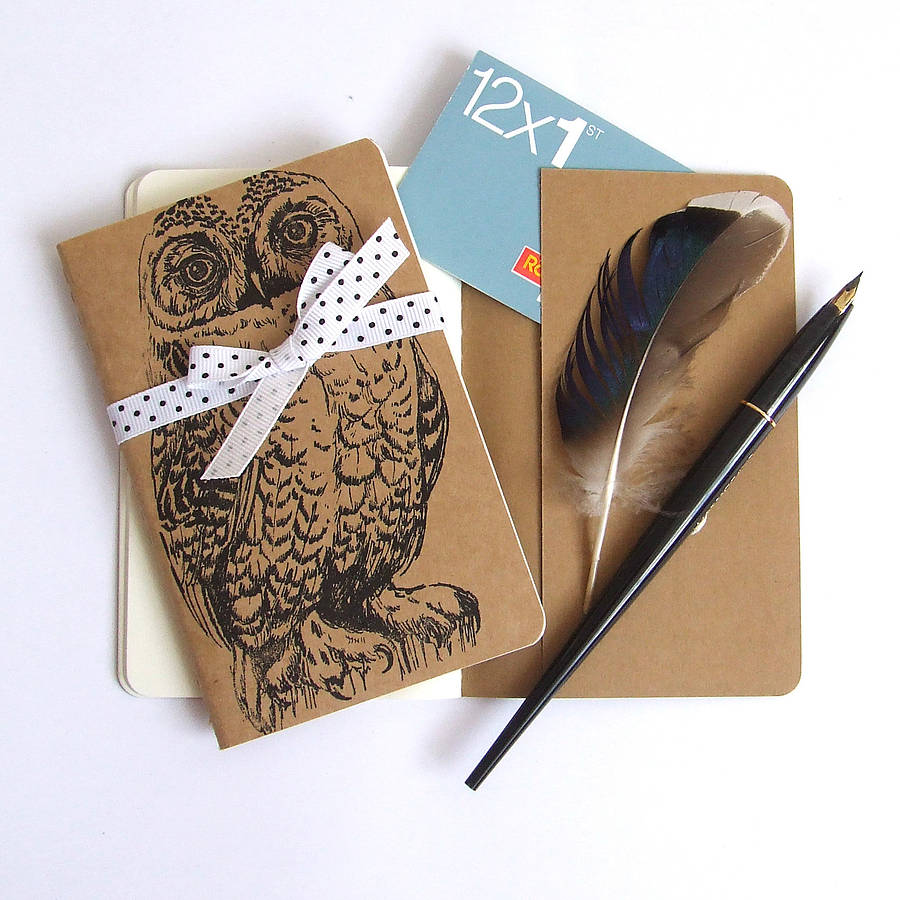 owl pocket notebook choice of three designs by feltmeupdesigns   notonthehighstreet.com