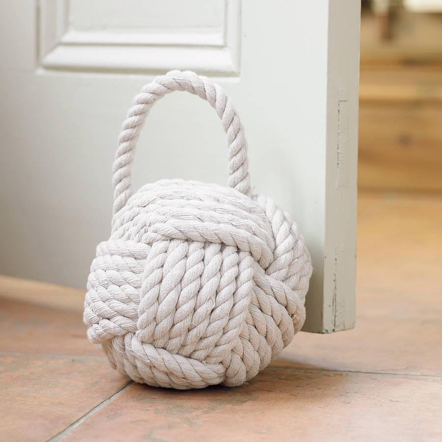 White Rope Door Stop By Dibor