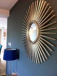 antique silver starburst wall mirror by the forest & co ...