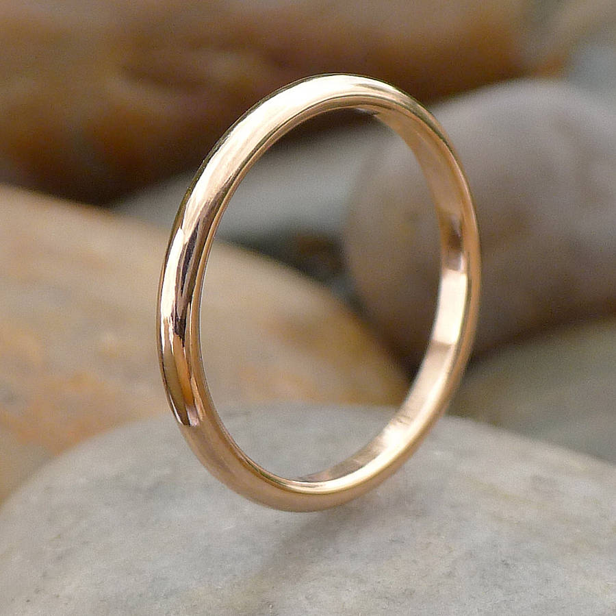 ethical 18ct rose gold wedding ring by lilia nash