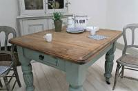 distressed antique farmhouse kitchen table by distressed ...