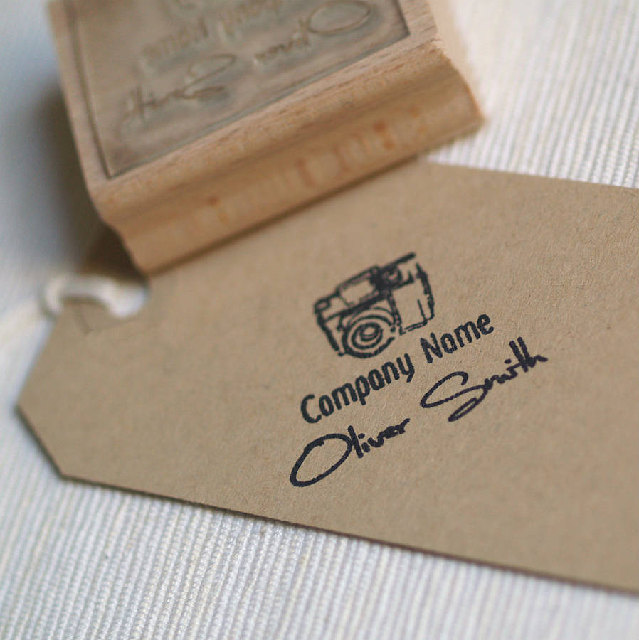 photographer personalised rubber stamp