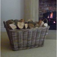 large log basket by marquis & dawe | notonthehighstreet.com