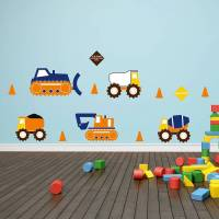 construction trucks wall stickers by mirrorin ...