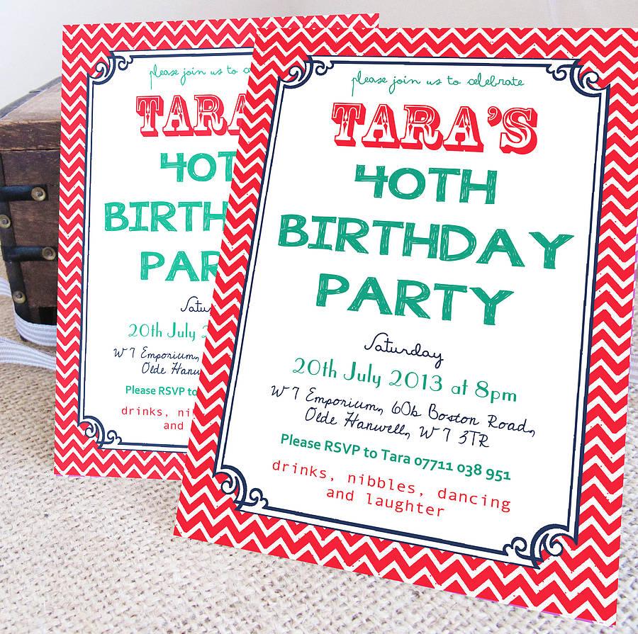 Birthday Invitations Not High Street