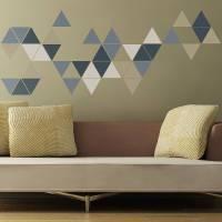 geometric triangles wall stickers by the binary box ...