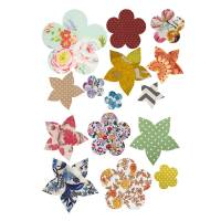 'vintage flower' vinyl wall stickers by oakdene designs