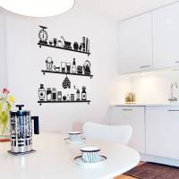 scandinavian kitchen shelves wall sticker by sirface ...