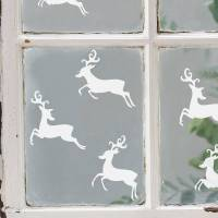 set of six reindeer vinyl stickers by nutmeg ...