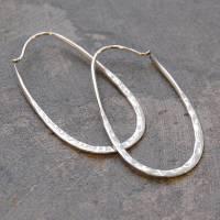 sterling silver oval hoop earrings by otis jaxon silver