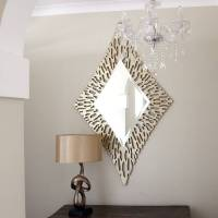 gold diamond shaped mirror by decorative mirrors online ...