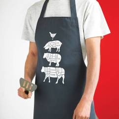 Kitchen Aprons Cost Of New Cabinets Long Butcher S Apron By Coconutgrass Notonthehighstreet Com