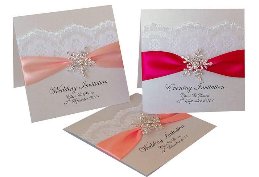 Snowflake Wedding Invitations 10 Pack