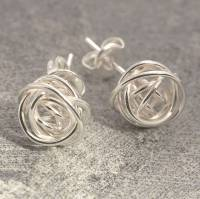 nest stud sterling silver earrings by otis jaxon silver ...