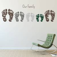 personalised footprint wall art stickers by name art ...