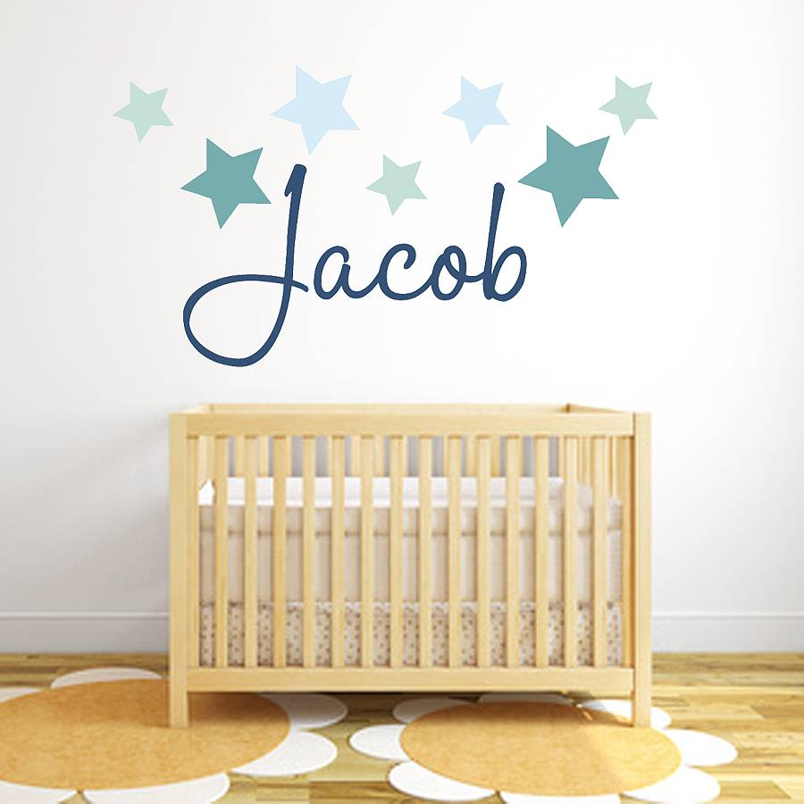star name fabric wall stickers by littleprints  notonthehighstreetcom