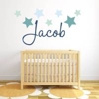 star name fabric wall stickers by littleprints ...