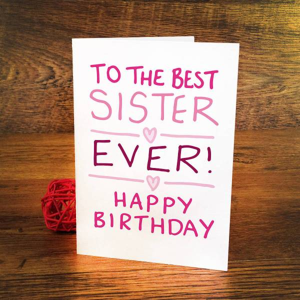Sister Birthday Card Ideas