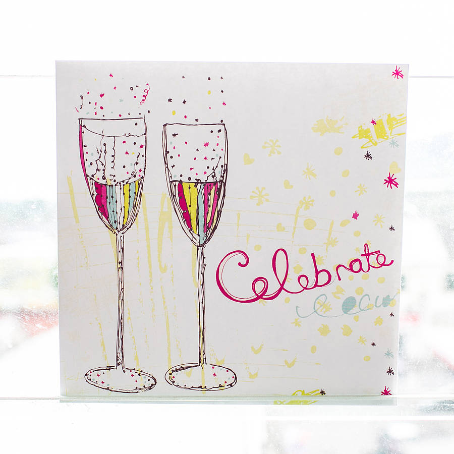 Champagne Celebration Card By Rachael Taylor