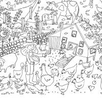 farm colouring in poster by really giant posters ...