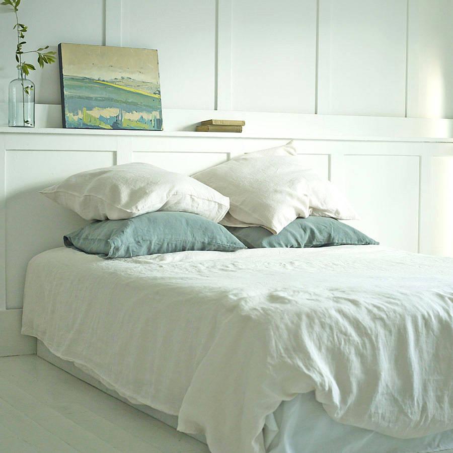 Linen Washed Duvet Cover Warm White By Rowen Amp Wren