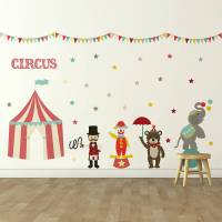 'children's circus' wall sticker set by oakdene designs ...